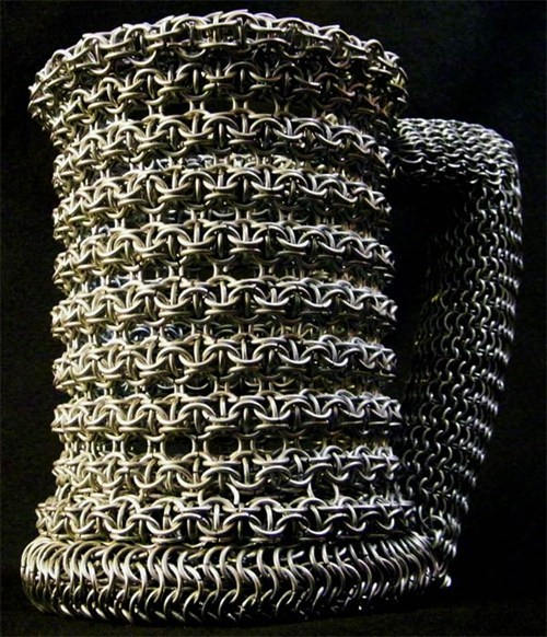 drinking stein chain mail manly sloshed swag - 6837742848