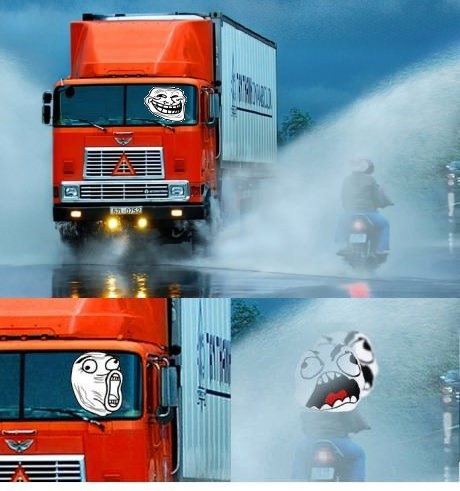 water,troll,truck,motorcycle