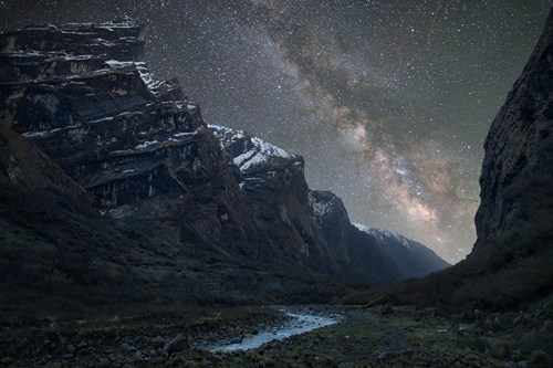 himalayas,landscape,stars,night,mountain
