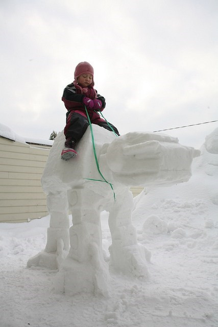 star wars snow man nerdgasm at at g rated win Hall of Fame best of week - 6838237184