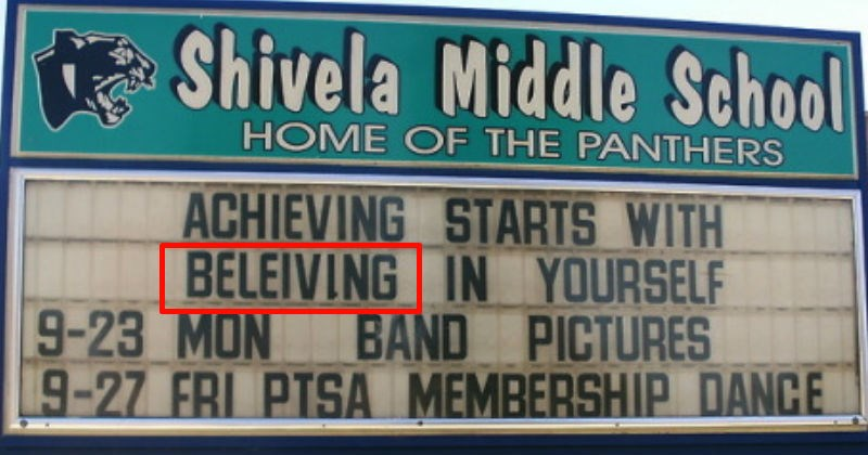 funny spelling fails on signs