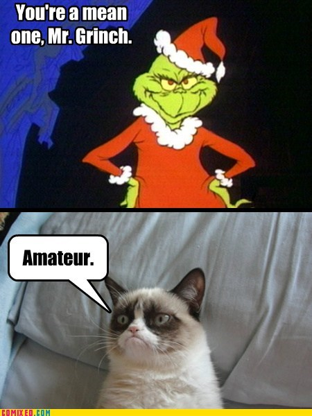 christmas,dr seuss,Movie,grinch,Grumpy Cat,amateur