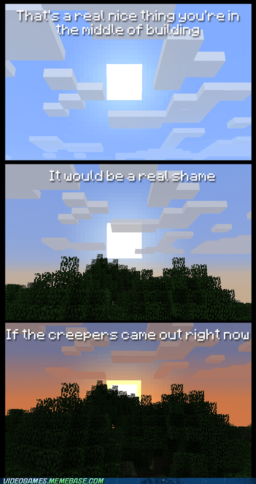minecraft,creepers,The Sun,cahoots