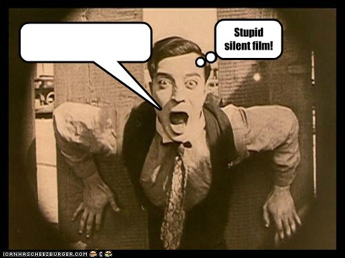speech bubble,buster keaton,silent film