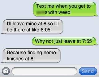 drug dealing,drugs,iPhones,priorities,finding nemo,texting