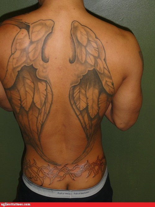 wings,back tattoos