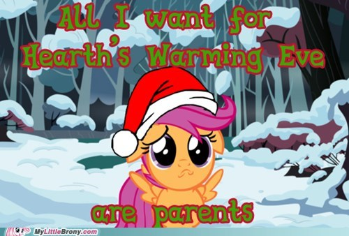 Sad hearths-warming-eve hnnnng Scootaloo - 6841796608