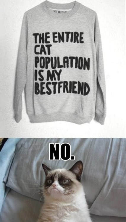 crazy cat lady sweater Grumpy Cat - 6842020608