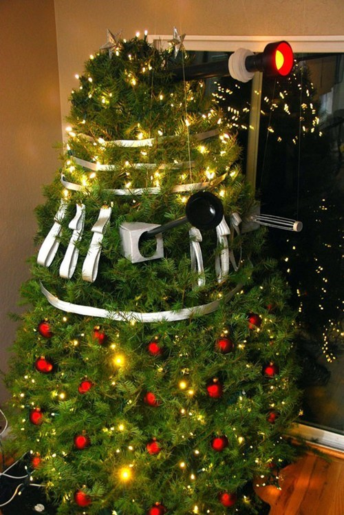 dalek,Exterminate,christmas tree,decorations,doctor who