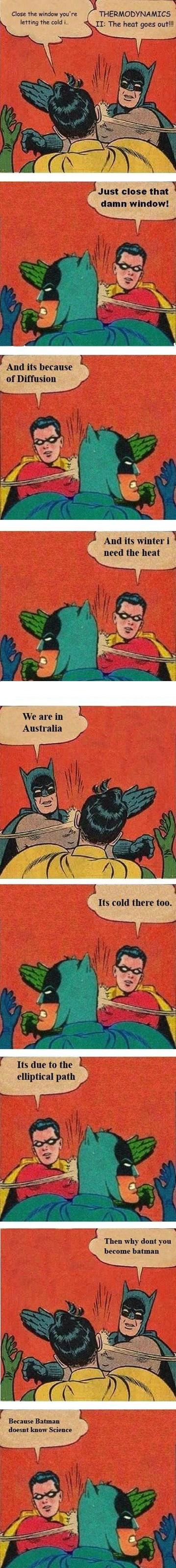 robin slapping batman science School of FAIL - 6842394112