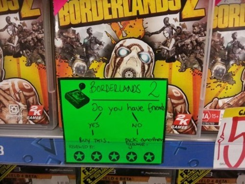 friends borderlands 2 video games flow chart store - 6842573824
