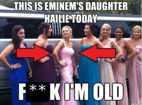daughters eminem YOU ARE OLD