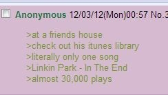 iTunes,4chan,in the end,linkin park