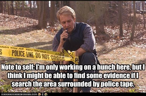 crime scene,evidence,edward norton,police tape,hunch,red dragon