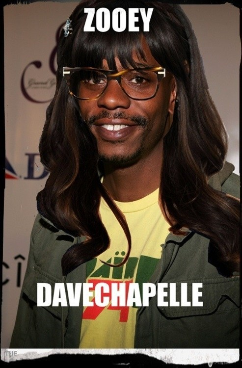 mashup dave chappelle photoshop zooey deschanel - 6843196672