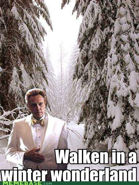christopher walken,Christmas Carols,celeb,jingle memes