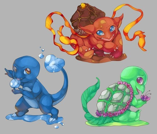 art,starters,first gen,types