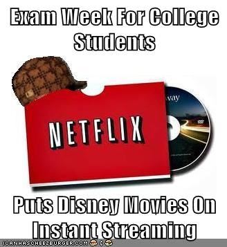 Exam Week For College Students Puts Disney Movies On Instant Streaming