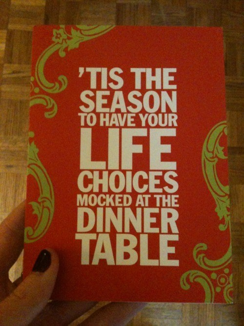 life choices,holiday,card,funny