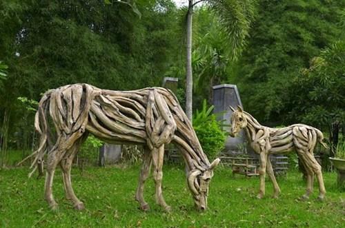 driftwood art design horse - 6843585024