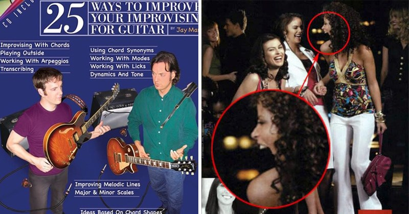 cover image of Photoshop fails with a guitar and women at a club