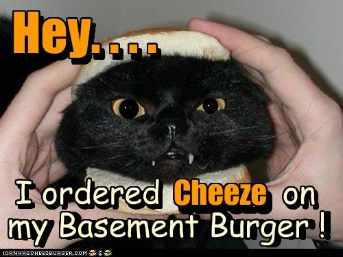 n n ) n n ) ) ) v . , n Hey. . . . my Basement Burger ! I ordered on Cheeze Hey. . . . I ordered on my Basement Burger ! Cheeze