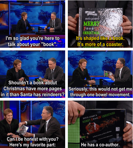 christmas,actor,jon stewart,denis leary,TV,the daily show,book,funny,comedian