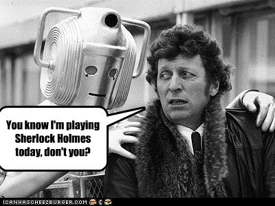 creepy,the doctor,sherlock holmes,doctor who,cyberman,tom baker