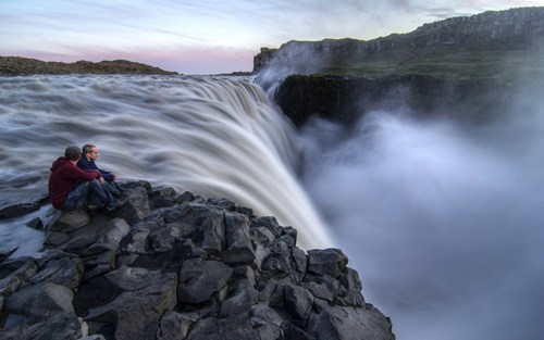Iceland waterfall vertigo