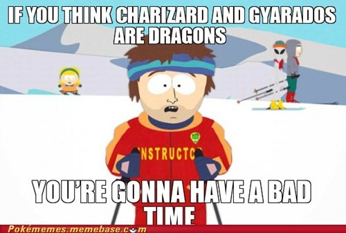 gyarados,charizard,dragons,super cool ski instructor