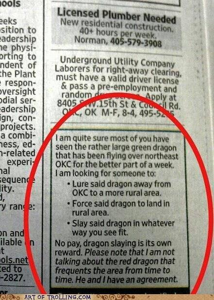 dragon job awesome slaying