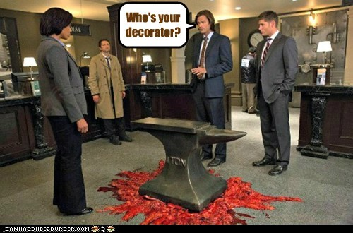 jensen ackles Supernatural dean winchester decorator misha collins sam winchester Jared Padalecki castiel - 6845709056