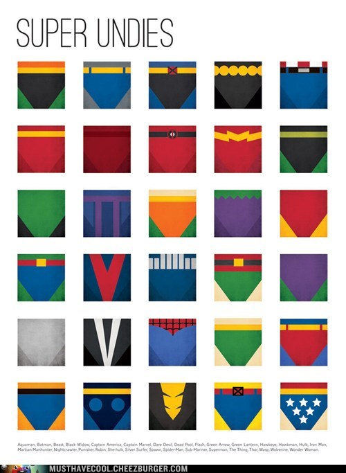 art poster print superheroes underwear - 6846199296