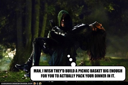 arrow picnic basket oliver queen dinner stephen amell