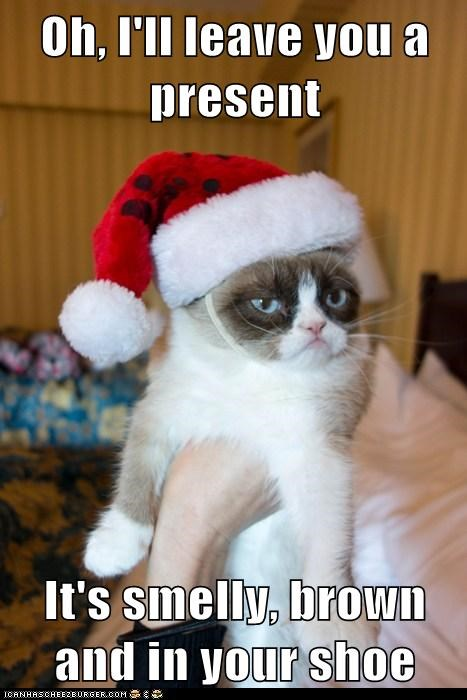 presents jingle memes pooptimes Grumpy Cat - 6846483456