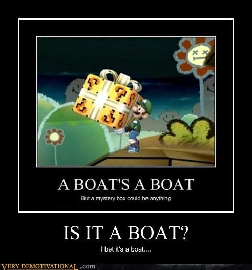 mystery box,luigi,boat
