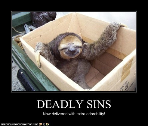 adorable,box,deadly sins,sloths,delivery