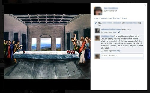 jesus faith the last supper beer pong - 6846790400