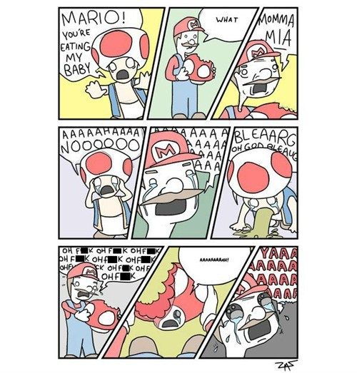 super mario,comic,Mushrooms