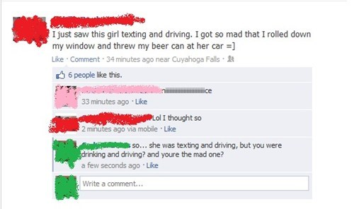 texting and driving,drinking and driving,road rage,dui