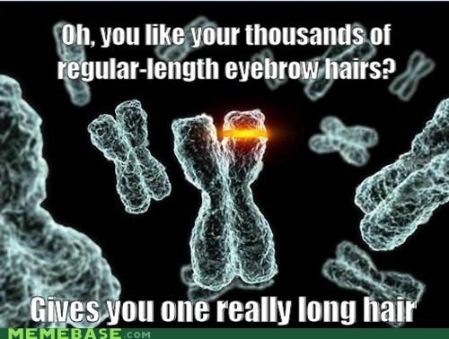 long hair eyebrows scumbag DNA - 6847001344