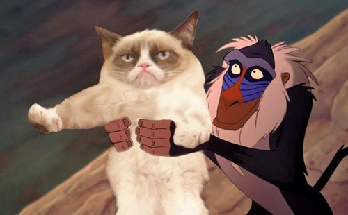 the lion king disney Movie 90s Grumpy Cat tard walt disney funny - 6847066112