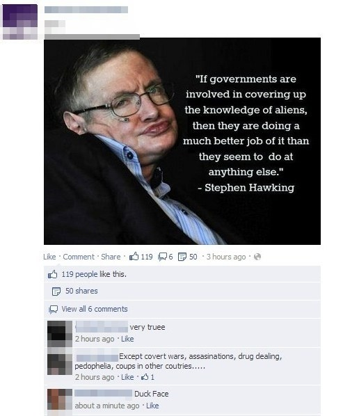 swag duck face stephen hawking