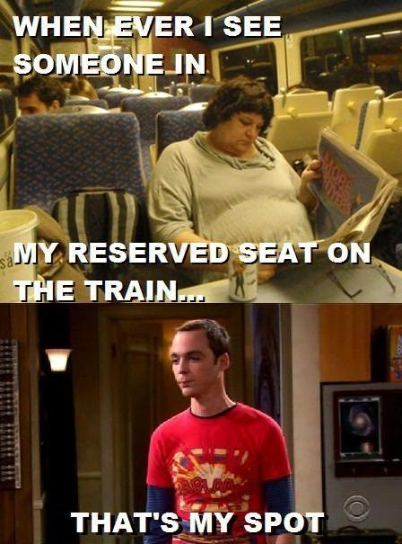big bang theory mine TV reserved train spot