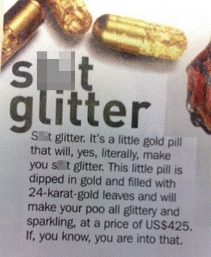 bathroom humor,jealous,glitter,friends,gold,poo