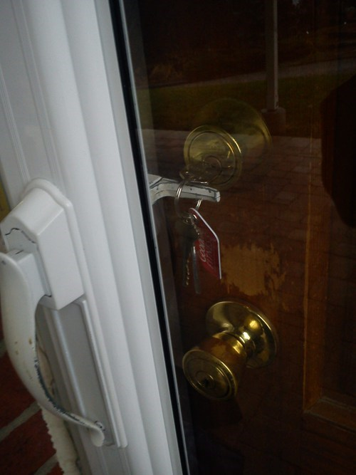 locksmith,front door,locked front door,locked out,g rated,there I fixed it