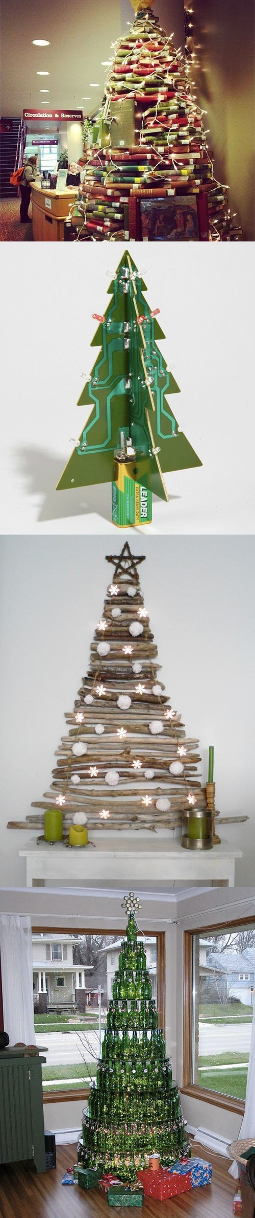sketcy santas lights home made alternative christmas trees books - 6847329536