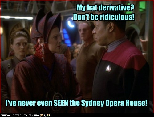 captain sisko,derivative,sydney opera house,avery brooks,Star Trek,Deep Space Nine,hat