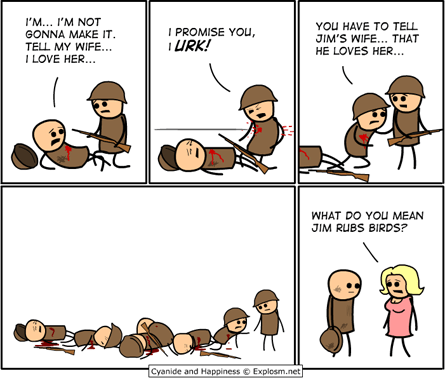 lost in translation,cyanide and happiness,telephone