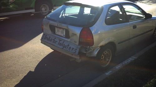 bumper sticker i brake for tailgaters bumper - 6847486208